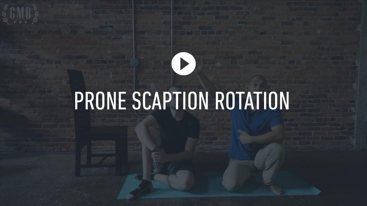 FF Prone Scaption Rotation