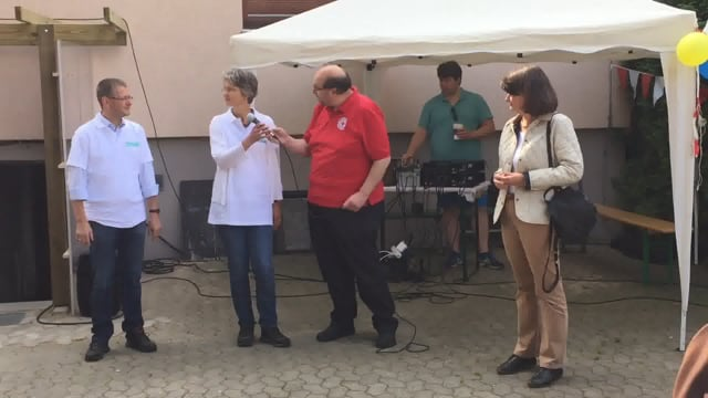 Sommerfest 2017 mit Lehrte hilft - Veronika Schulte, Armin Albat