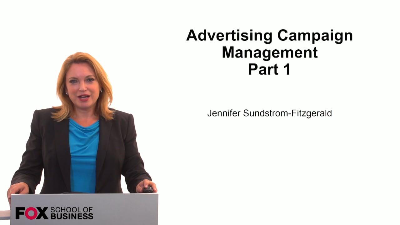 59847Advertising Campaign Management Part 1