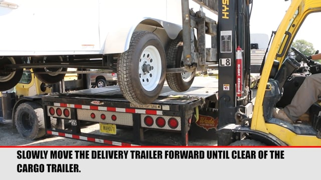 Unloading Tandem Axle Cargo Trailers