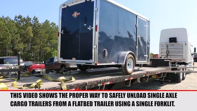 Unloading Single Axle Cargo Trailers