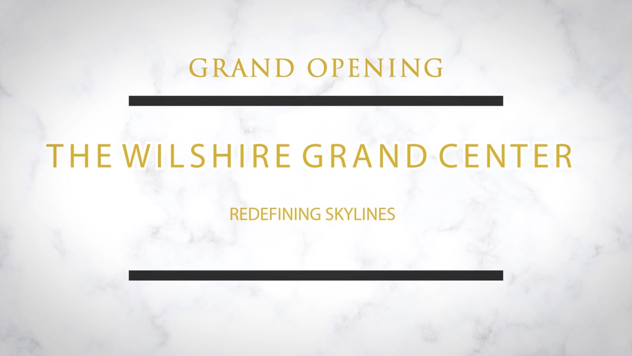 """Grand Opening Intercontinental Hotel Los Angeles Downtown """"Behind the Scenes"""""""