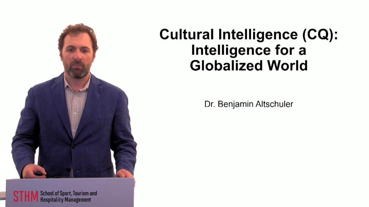 59880Cultural Intelligence (CQ) Intelligence for a Globalized World