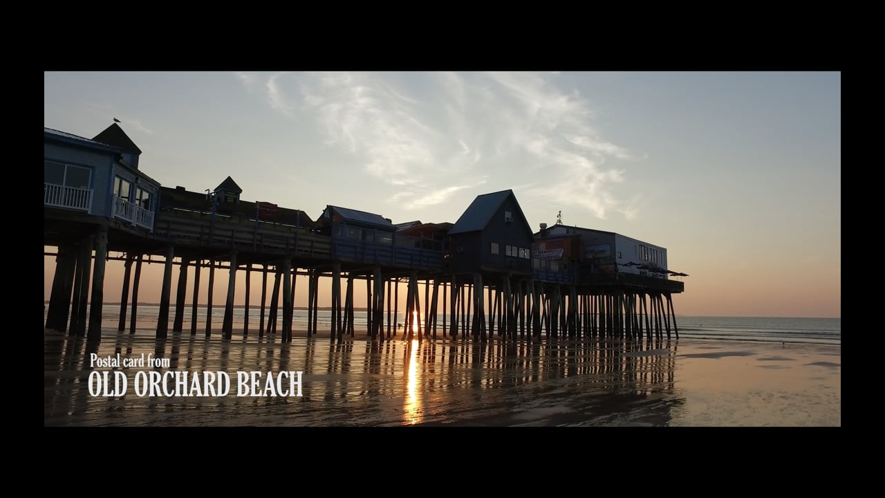 POSTAL CARD FROM OLD ORCHARD BEACH