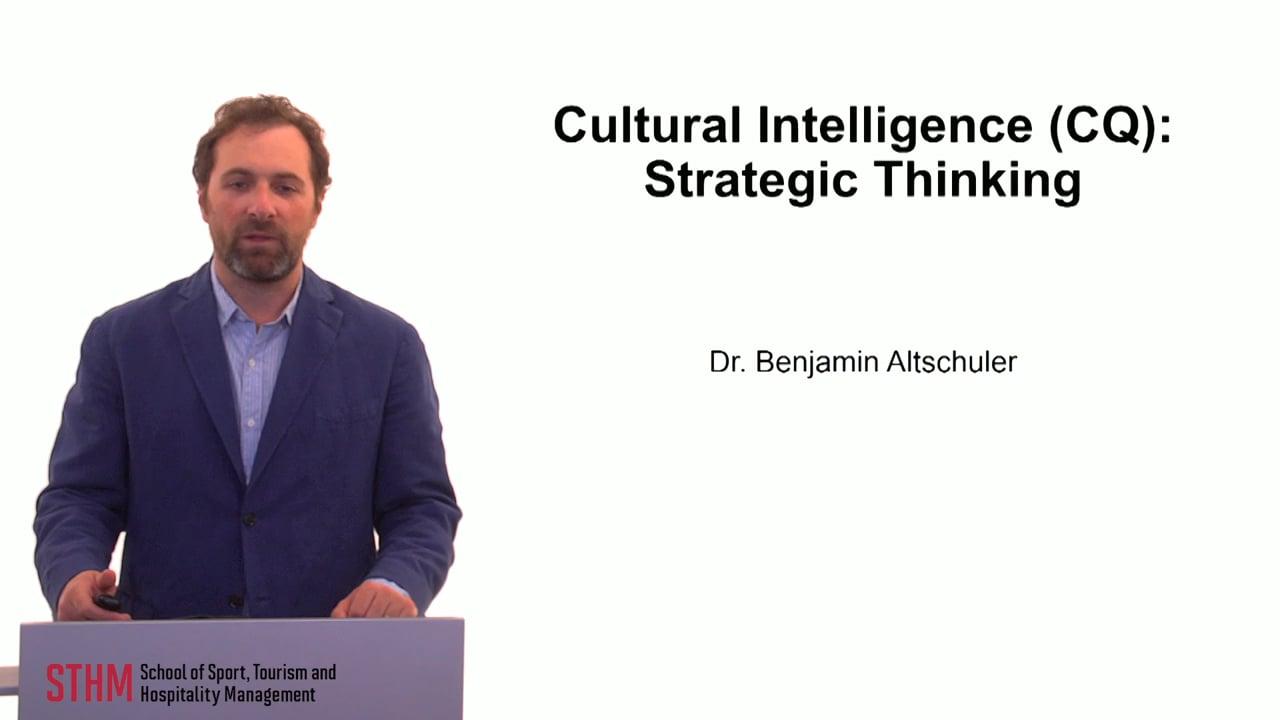 59882Cultural Intelligence (CQ) Strategic Thinking