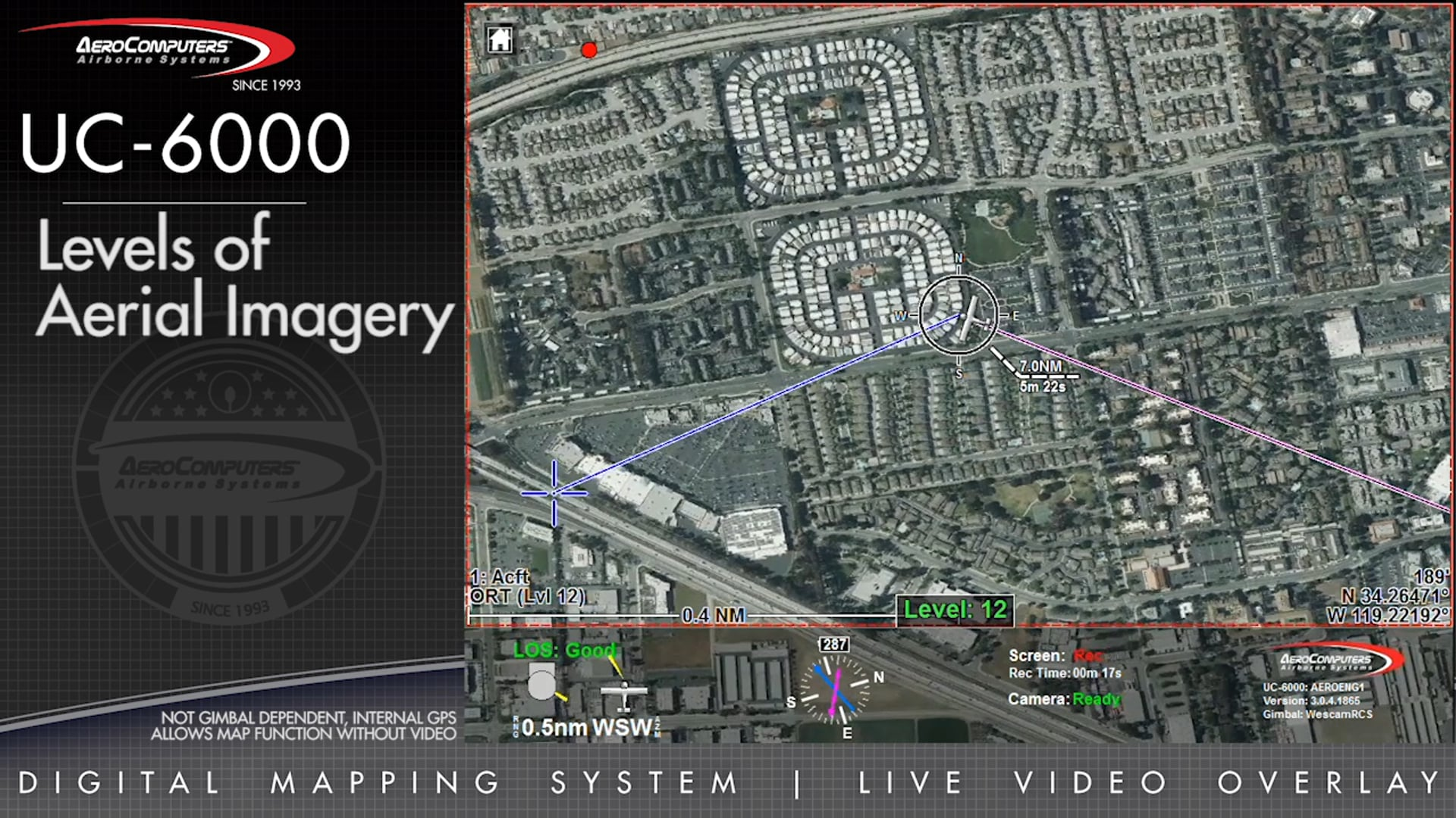AeroComputers UC6000 Demonstration Video: Levels Of Aerial Imagery