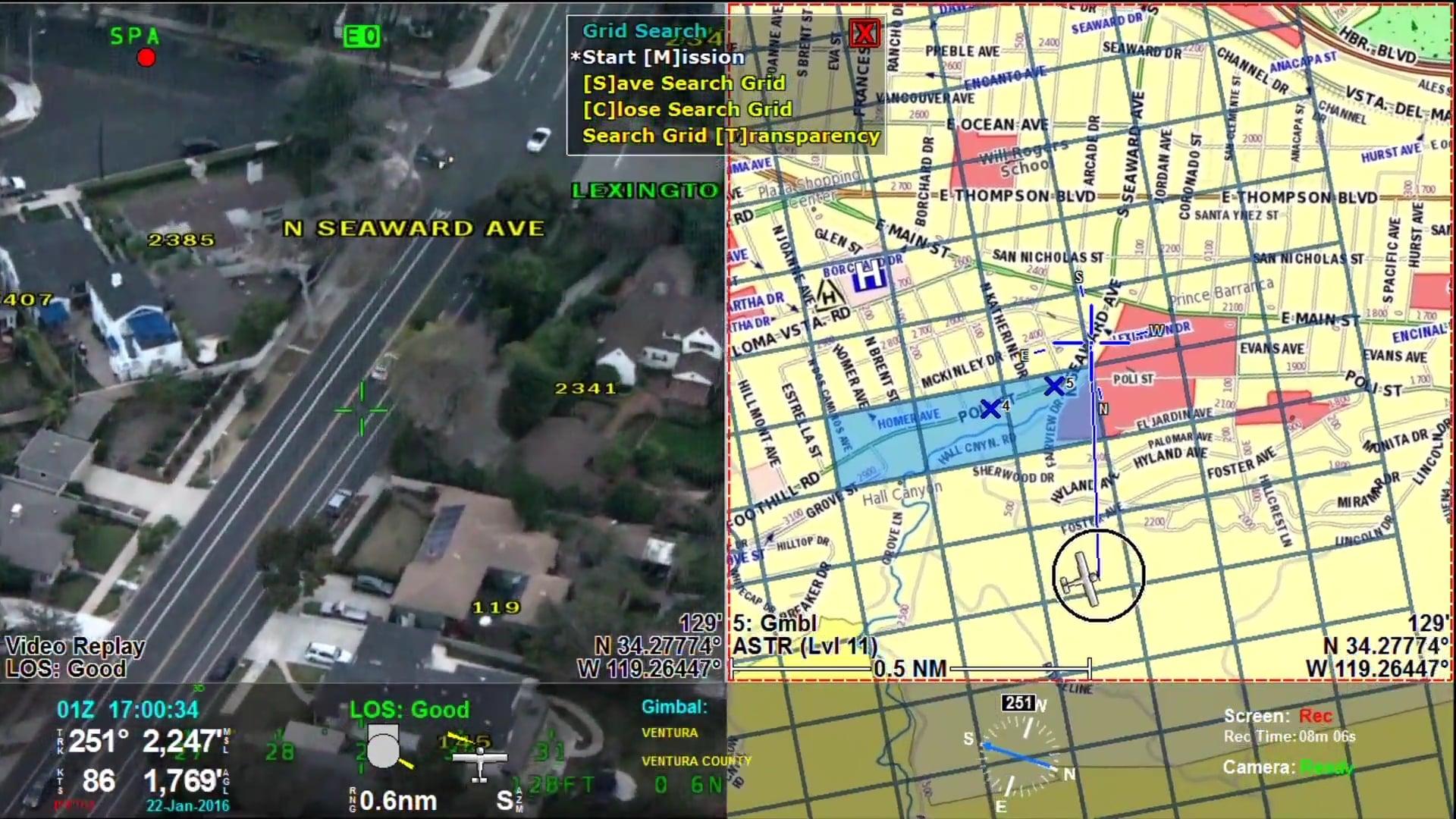 Grid Search in an Urban Environment