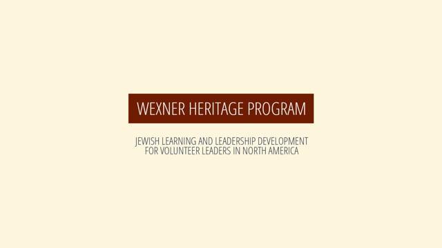 Wexner Heritage Program: A Jewish Odyssey
