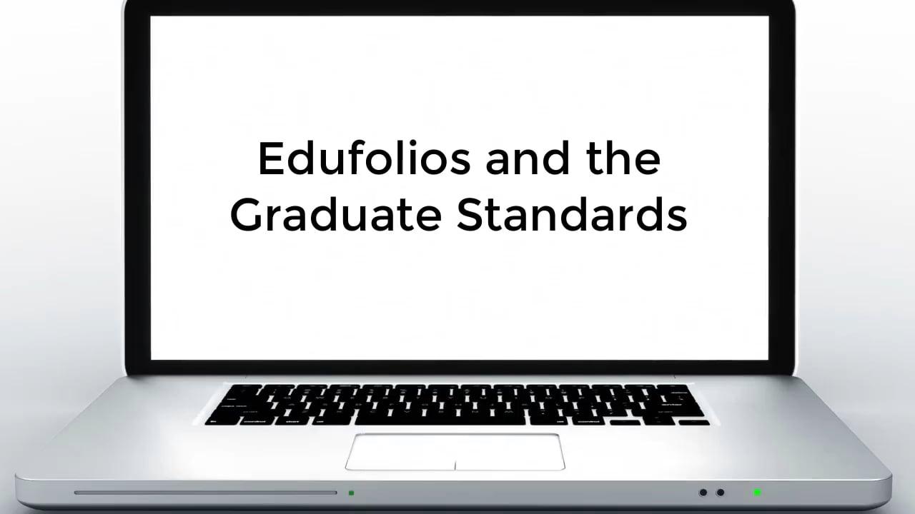 Webinar - Edufolios and The Graduate Standard
