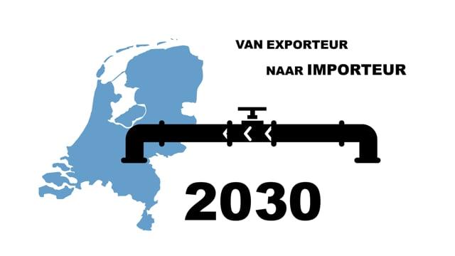 Infographic over gas import / export  -  Studio Oostrum