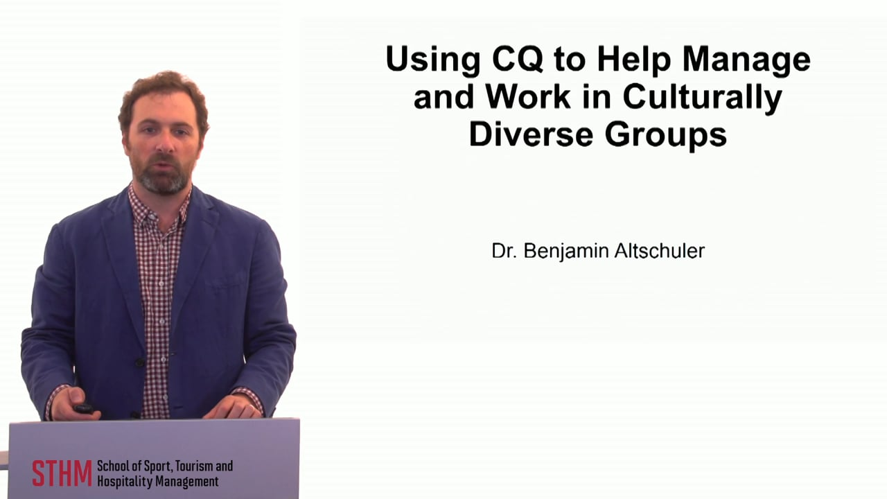 59888Using CQ to Help Manage and Work in Cuturally Diverse Groups