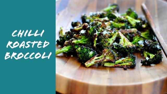 Chilis sült brokkoli recept