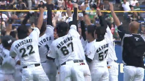 【9回裏】チーム一丸で掴んだ勝利!! マリーンズ・サブロー 代打でサヨナラヒット!! 2013/6/29 M-H