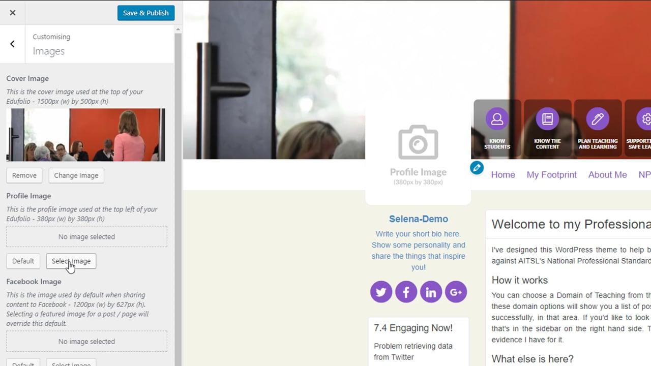 Customise your Edufolio - New Theme