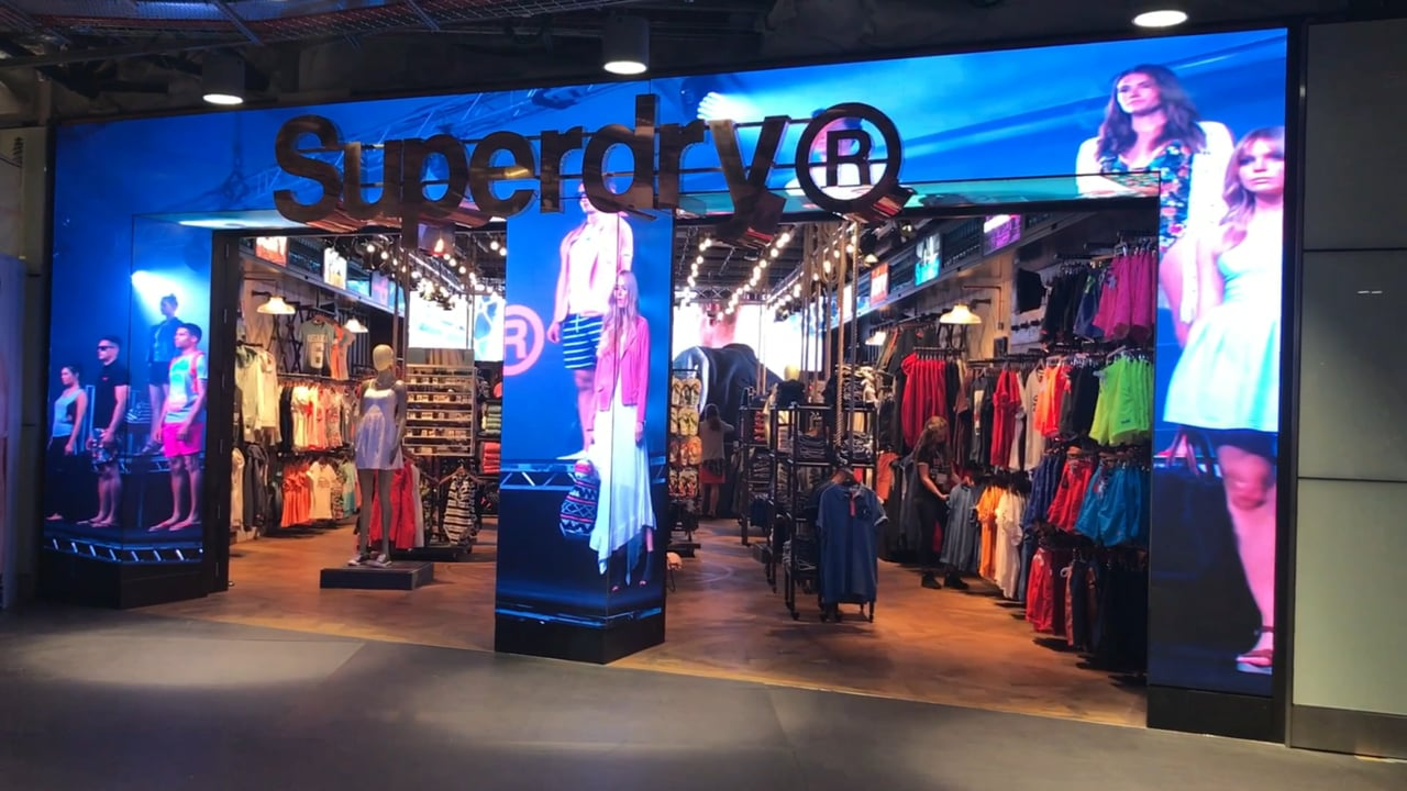 Dynamo Custom LED Shopfront - Superdry Heathrow T3