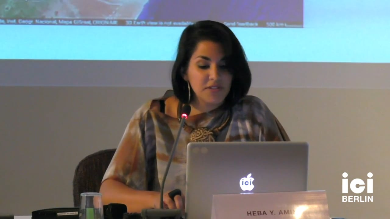 Talk by Heba Y. Amin (Panel III)