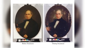Discovering the Legend - Sam Houston Portrait Conservation #27