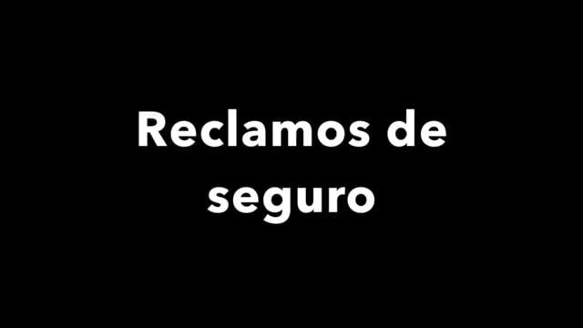 Disaster recovery: reclamos de seguro  [espanol]