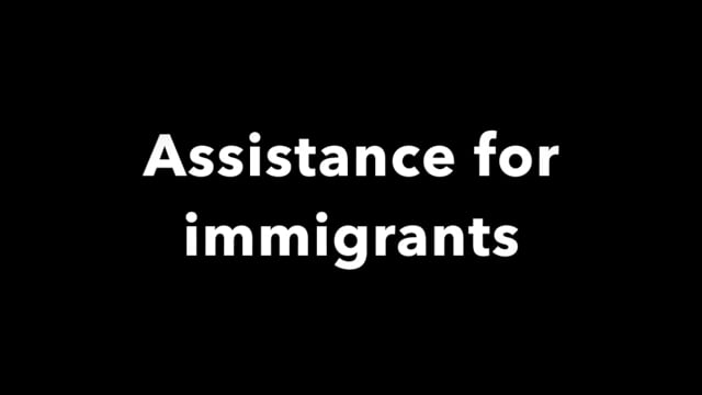 Disaster recovery: immigrant assistance