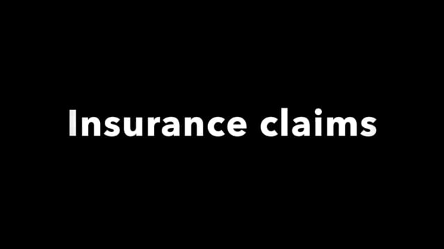 Disaster recovery: insurance claims