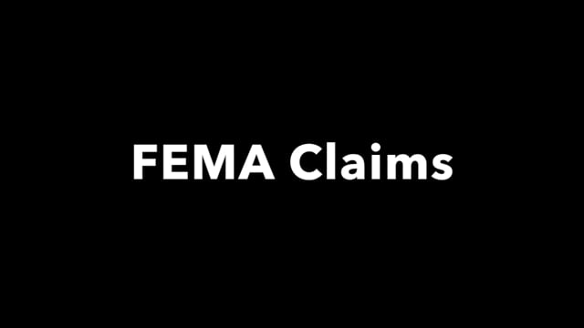 Disaster recovery: FEMA claims