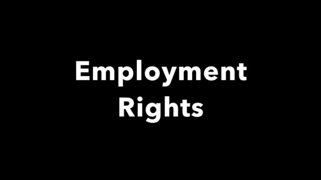 Disaster recovery: employment rights