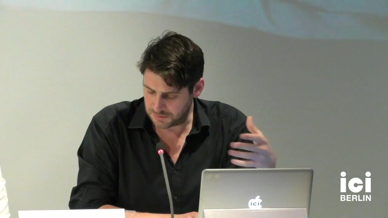 Talk by James Burton (Panel III)