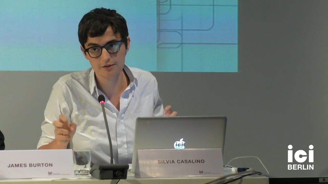 Talk by Silvia Casalino (Panel III)