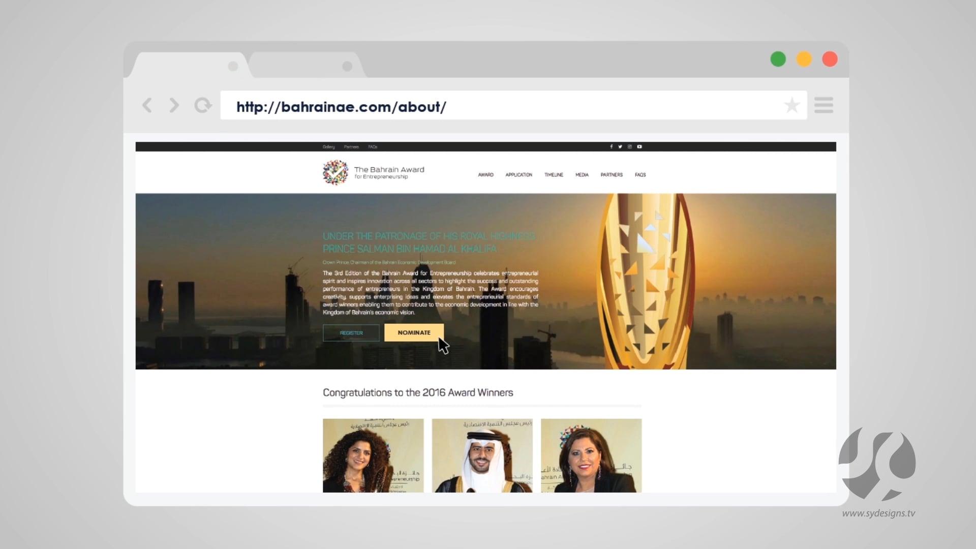 BAHRAIN ENTREPRENEURSHIP AWARDS EXPLAINER VIDEO