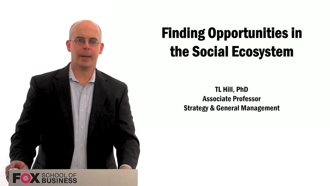 60011Finding Opportunities in the Social Ecosystem