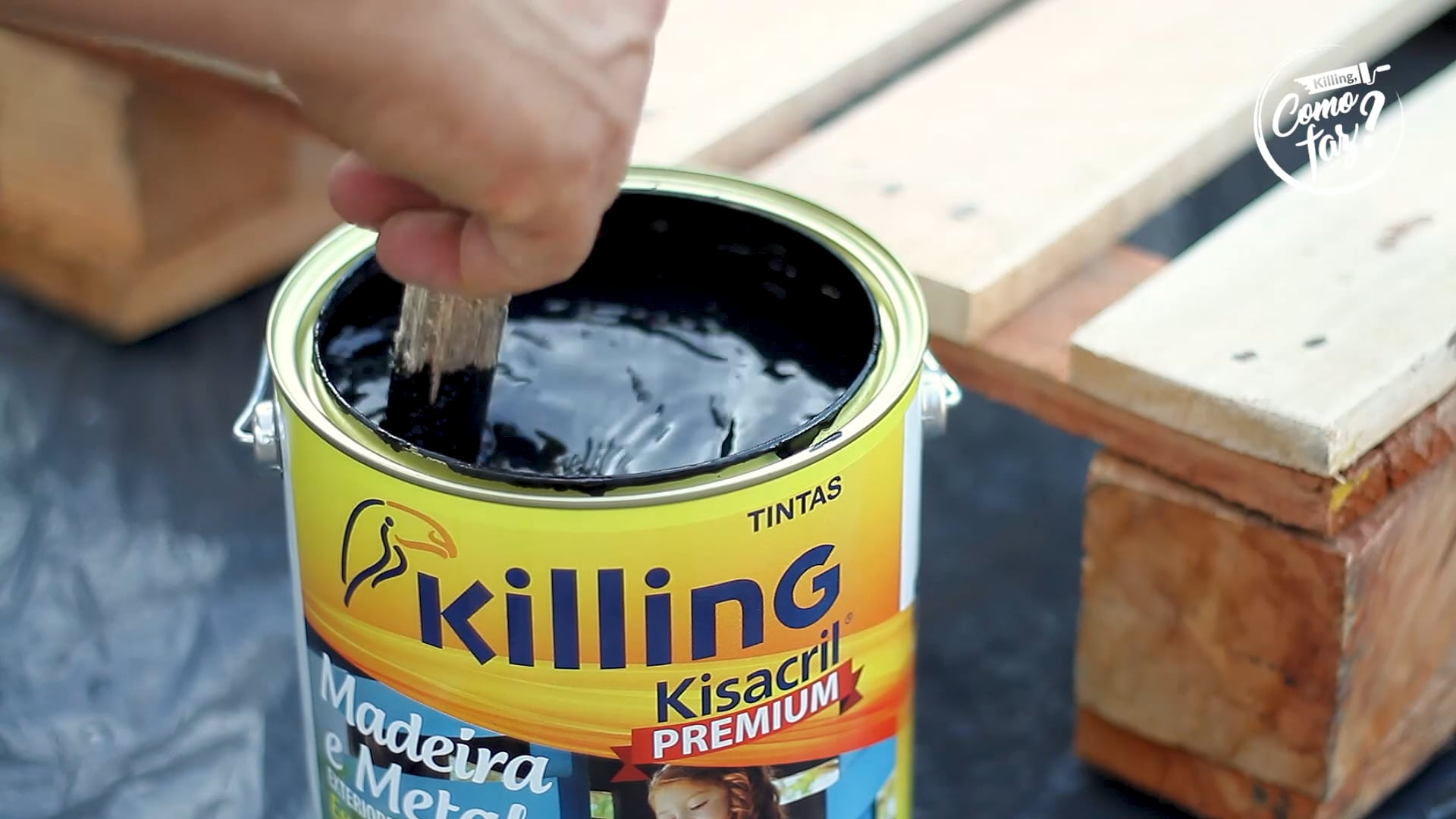 Tintas Killing - Como faz? Sofá de Palete