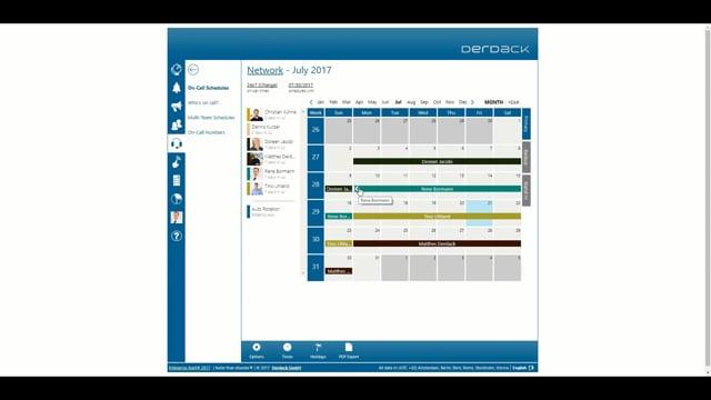 Enterprise Alert 2017: Duty Scheduling