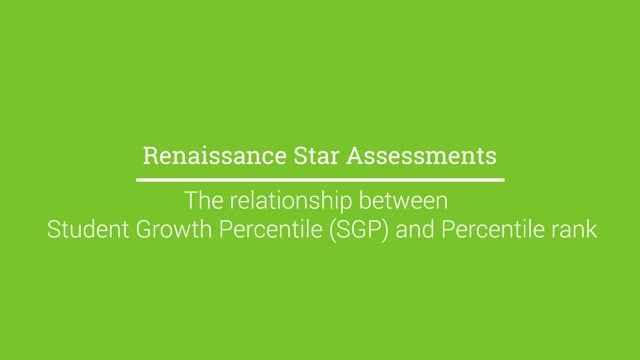 The relationship between Student Growth Percentile (SGP) and Percentile Rank
