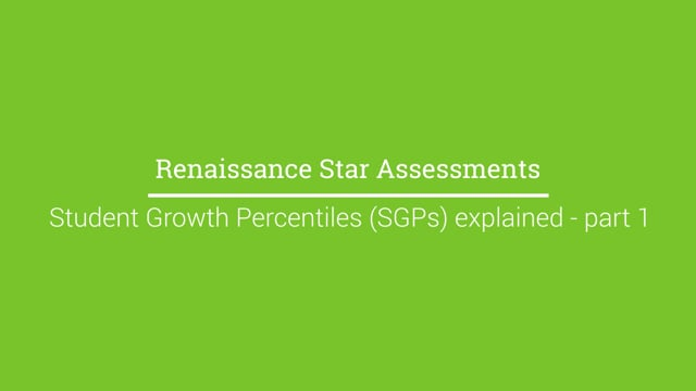 Student Growth Percentiles (SGPs) explained - Part 1