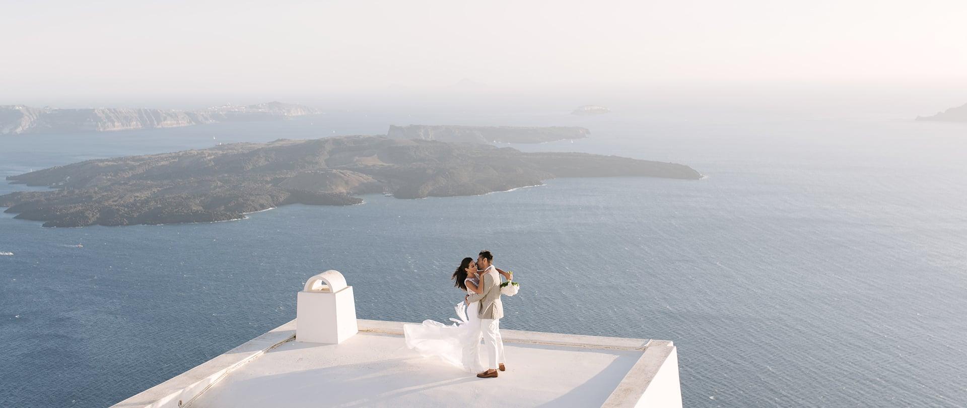 Ashley & Kosta Wedding Video Filmed at Santorini, Greece