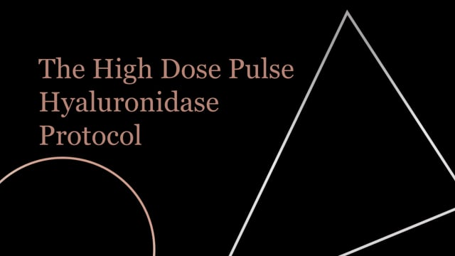 High Dose Pulsed Hyaluronidase protocol