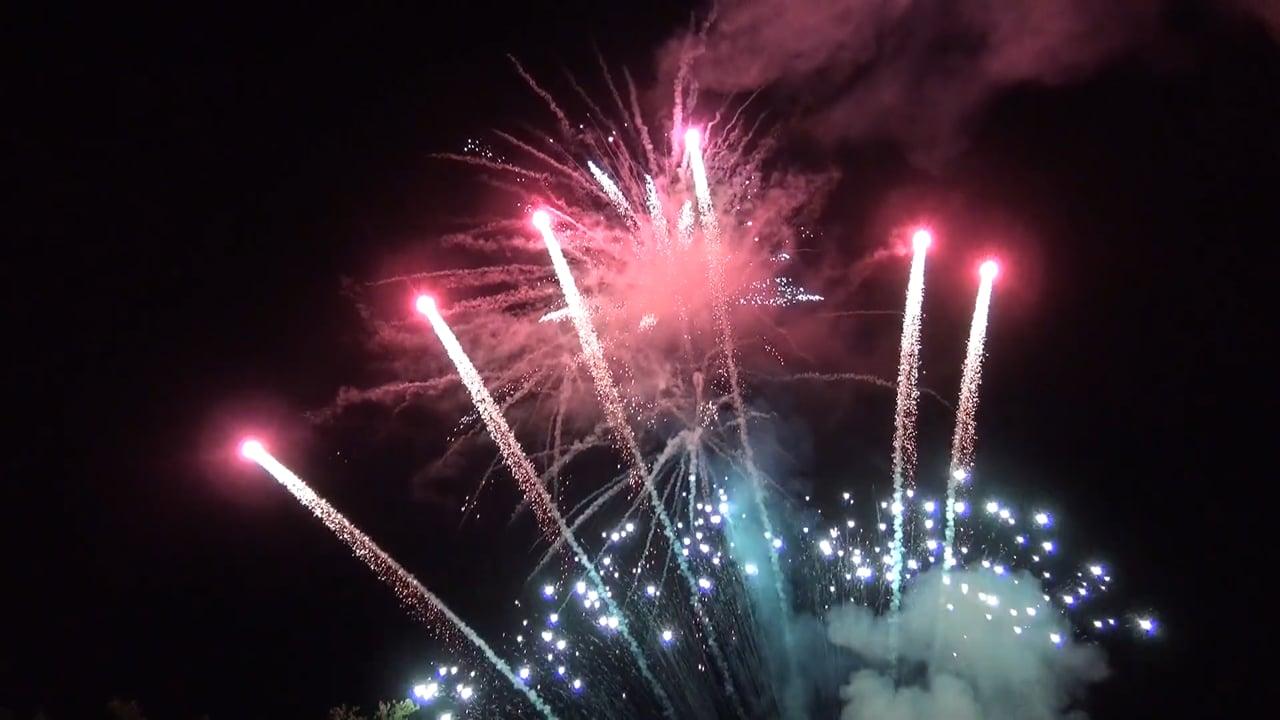 G & B Feuerwerk - Feuerwerk am Golfplatz 2017