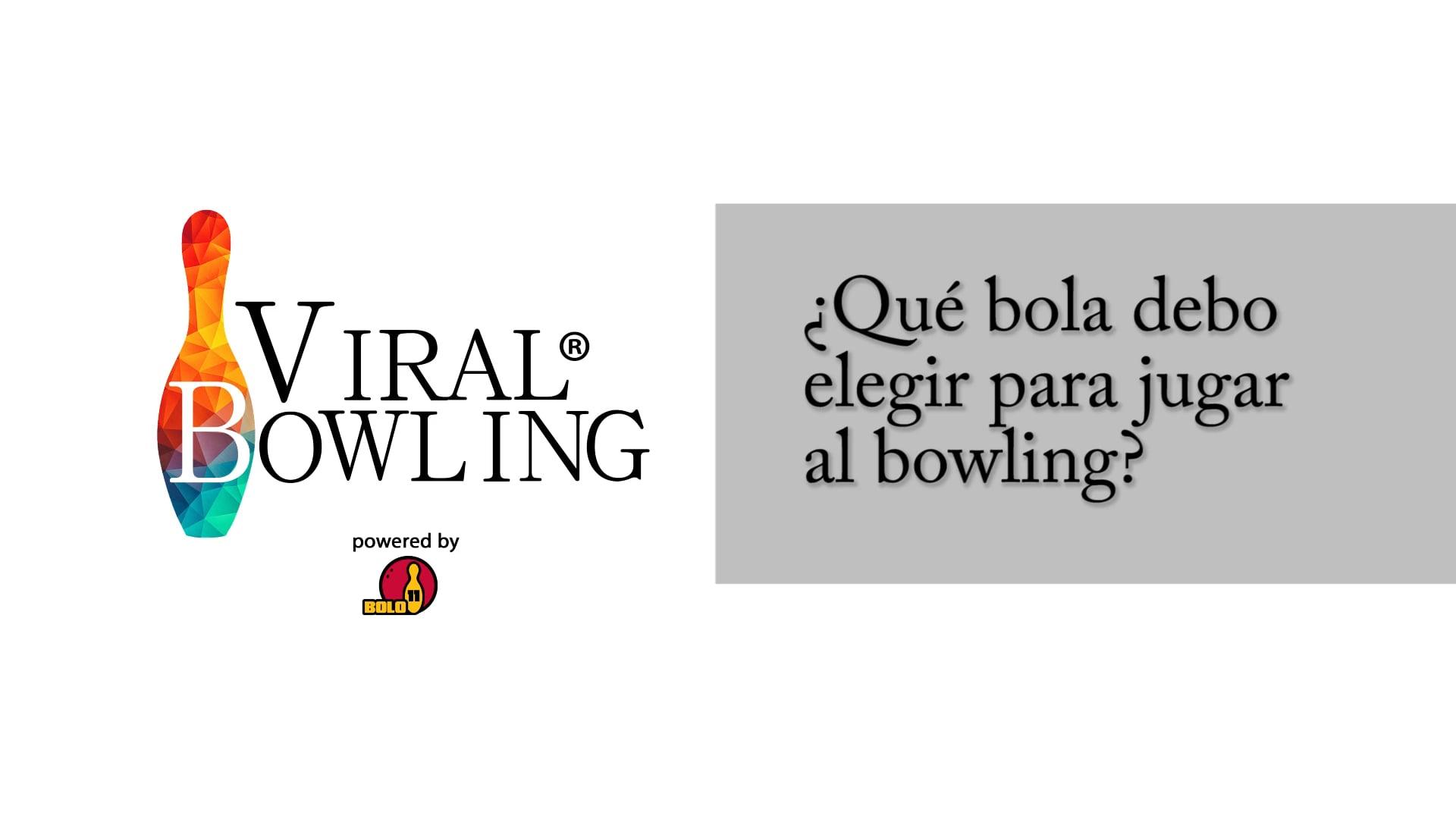 #ViralBowling: Cuál es la bola apropiada para jugar al bowling