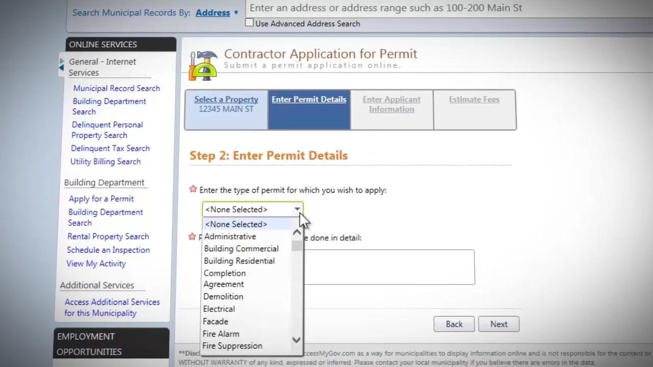 Online Permit Application