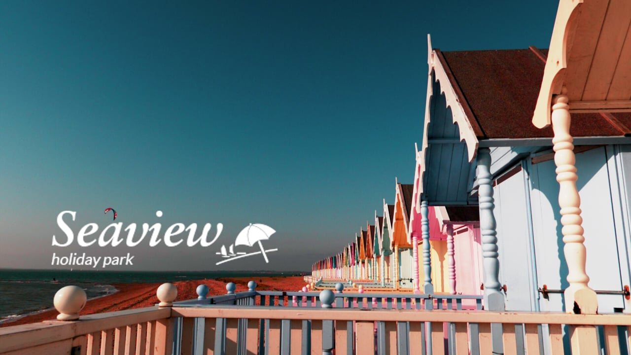 Seaview Holiday Park - Mersea Island Essex UK. Aerial Drone Video