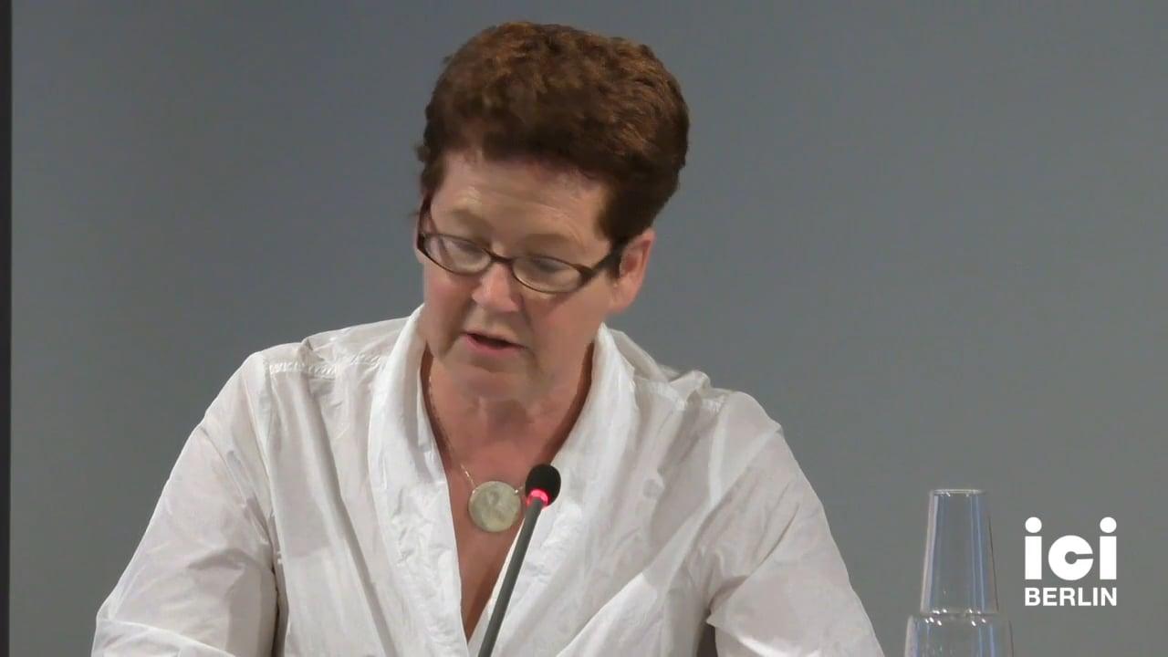 Talk by Dorothea Mücke (Panel II)