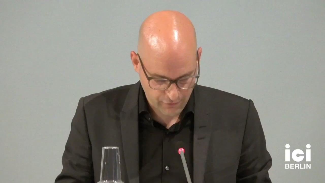 Talk by Rupert Gaderer (Panel II)