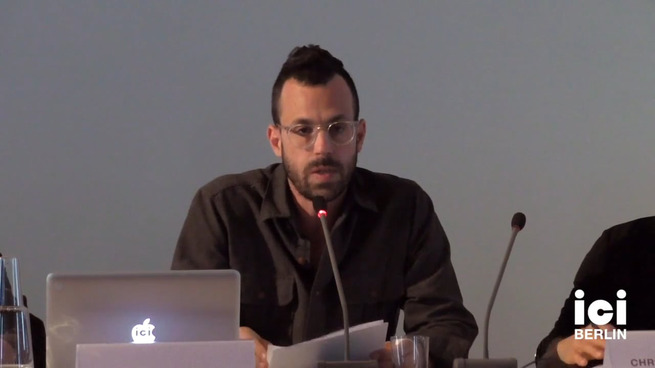 Talk by David Kishik (Panel VIII)