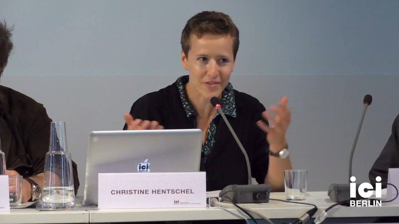 Talk by Christine Hentschel (Panel VIII)
