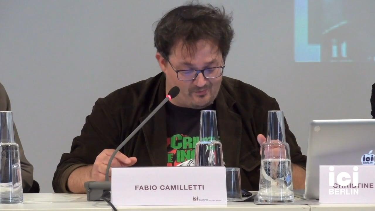 Talk by Fabio Camilletti (Panel VIII)
