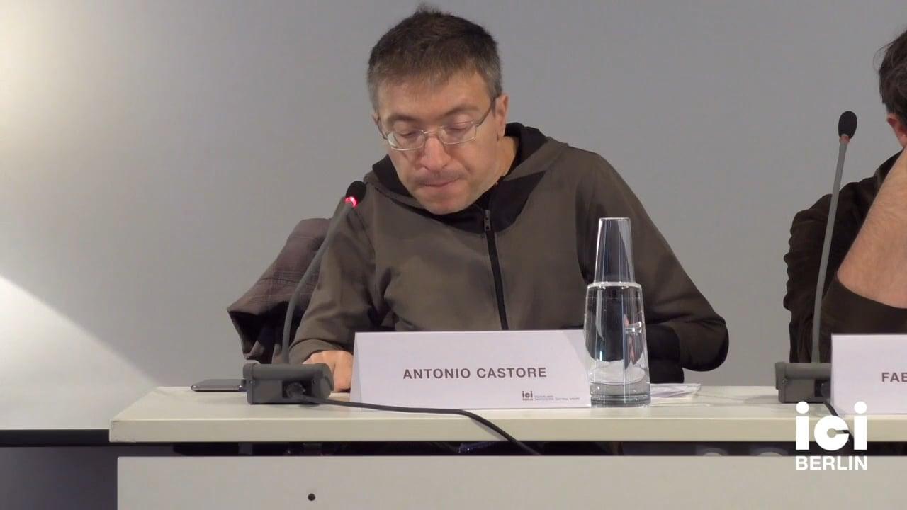Talk by Antonio Castore (Panel VIII)