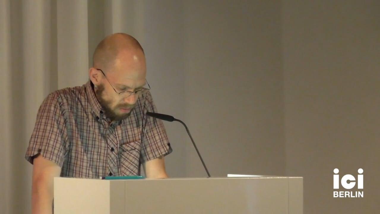 Talk by Volker Woltersdorff (Panel VII)