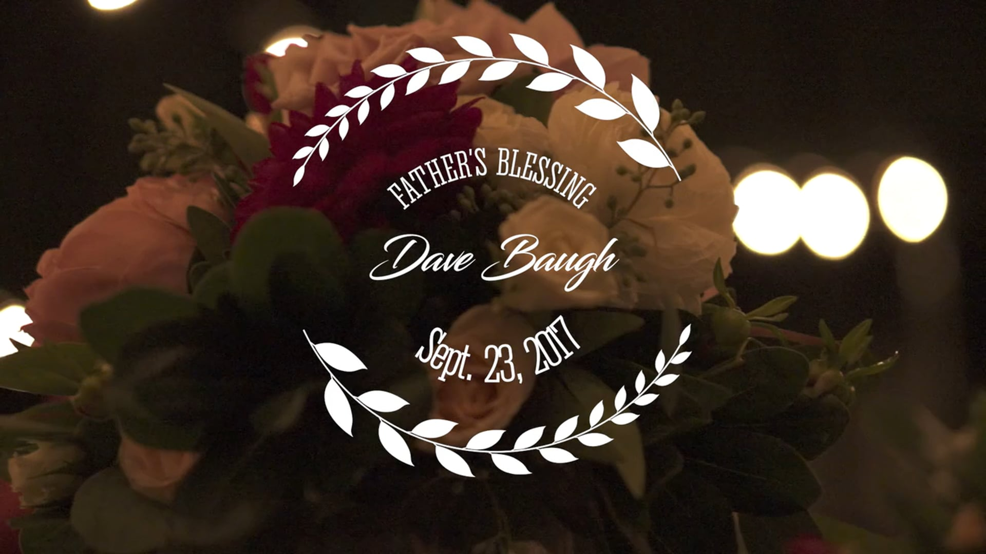 Melissa + Erik Prosser Wedding - Dad's Blessing