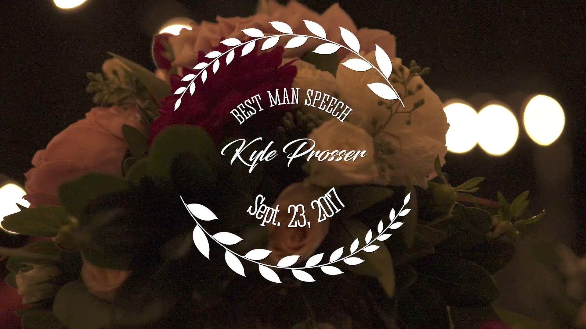 Melissa + Erik Prosser Wedding -  Best Man Speech