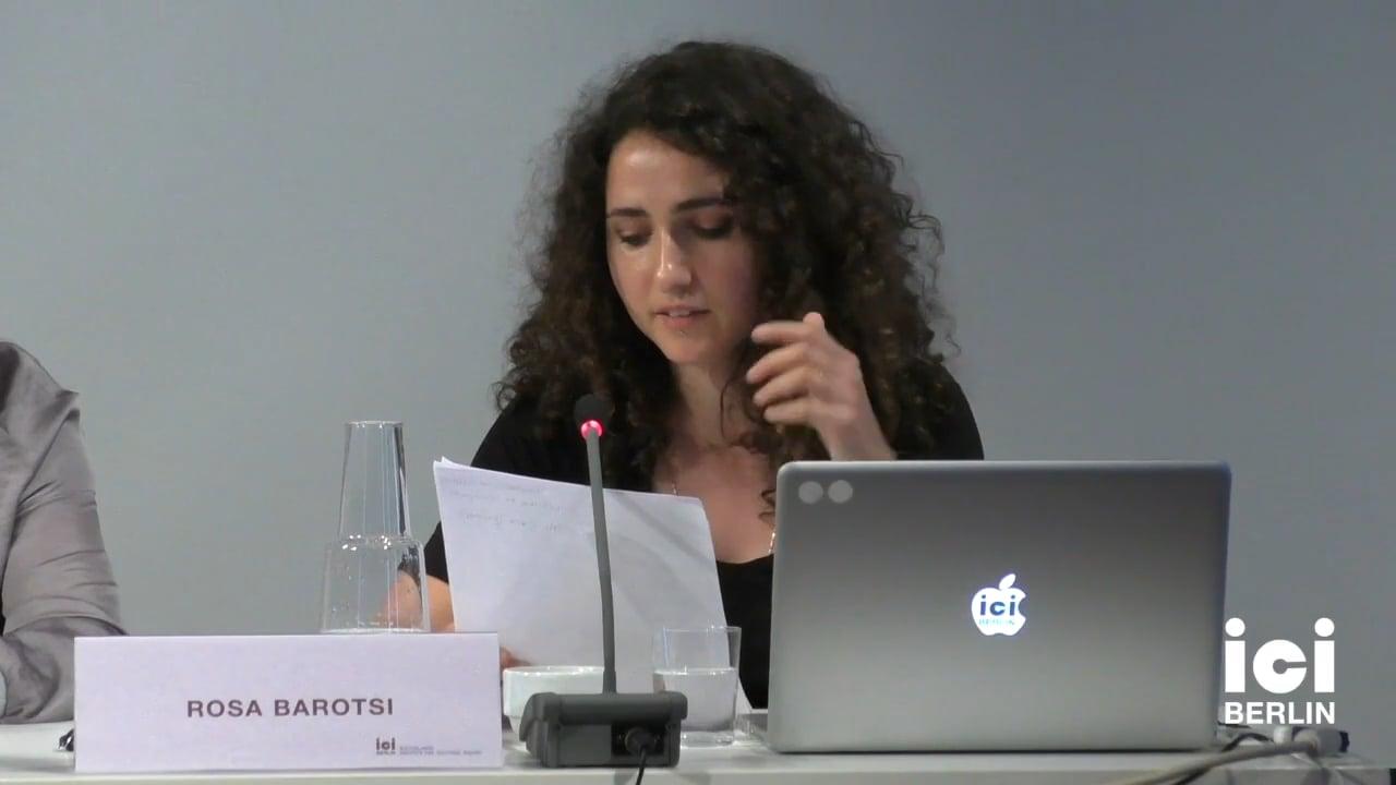 Talk by Rosa Barotsi (Panel I)